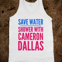SAVE WATER SHOWER WITH CAMERON DALLAS TANK TOP (IDC402017)