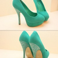 Ladies Night Rhinestone Heel Pumps