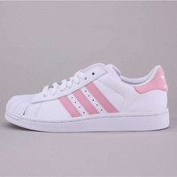 Adidas Superstar White Pink Trainers
