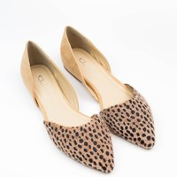 Cheetah Pointed Flat - Chinese Laundry