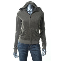 Juicy Couture Womens Terry Cloth Hooded Track Jacket