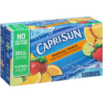 Capri Sun Juice Drink, Tropical Punch, 6 Fl Oz, 10 Ct - Walmart.com