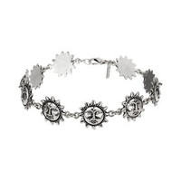 Sun Anklet - Silver