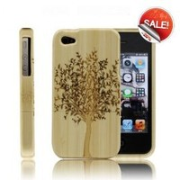 ZLYC Generic Best Handmade Carved Bamboo iPhone 4 / 4s Case A Big Tree