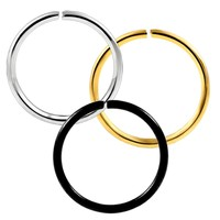 1Pc 20g Stainless Steel Women Fashion Gold Silver Plated Fake Nose Ring Hoop Nose Stud Rings Body Piercing Jewelry For Women