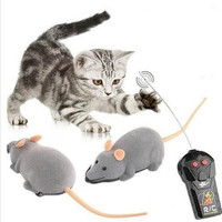 Mini Scary Remote Control RC Simulation Plush Mouse Mice Animal Tricky Plastic Flocking Wireless Kids Toys Gift for Cat Dog = 1929587716