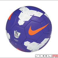 Nike Pitch EPL Soccer Ball - Purple with White and Total Orange - SoccerPro.com