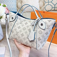 LV Louis Vuitton Hot Sale Women Shopping Leather Handbag Tote Shoulder Bag Crossbody Satchel Set Two Piece