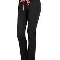 LE3NO Womens Active Adjustable Sweat Pants with Stretch (CLEARANCE)