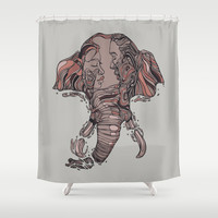 I Forget Where We Were Shower Curtain by Huebucket