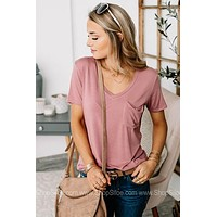 Covering The Basics Pocket Tee | Rosebud