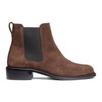 Suede Chelsea Boots - from H&M