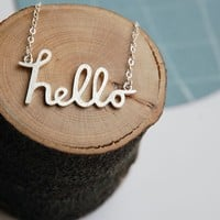 Hello Necklace You're My Favourite Hello in by Joannarutter