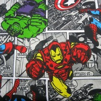 Charming Jersey Fabric Cartoon Avengers Hero knitted Cotton Fabric Stretch Cotton Fabric Spiderman Hulk Head DIY Sewing Clothing