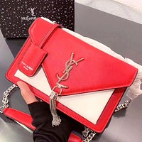 YSL 2019 new high quality female tassel chain bag shoulder bag red