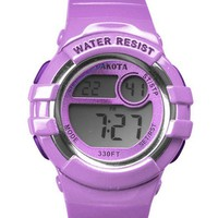 Nurses Medical Scrub Watch Lavender Digital Light Up Dual Dakota 53133