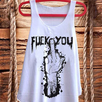 """F""""""""K   You Rude Funny Naughty  Hipster best design for Tank top mens and Tank top Girls fashion"""