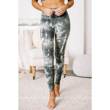 Reach Your Goals Sage Marbled Leggings