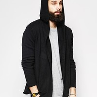 ASOS Lambswool Rich Hooded Cardigan