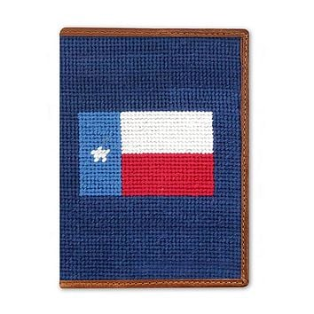Texas Flag Needlepoint Passport Case by Smathers & Branson