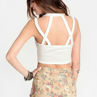 Space Cadet Crop Top - $18.00 : ThreadSence, Women's Indie & Bohemian Clothing, Dresses, & Accessories
