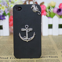 Silvery Anchor Case Cover for iPhone 4gs/4s by fashioncase