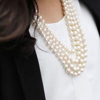 Four-Strand Pearl Necklace | Special Occasion - Necklaces | charming charlie