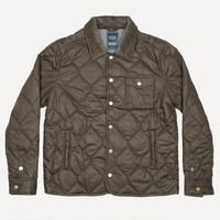 Waxed Quilted Jacket in Dark Earth