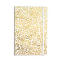 """Pom Graphic Design """"Inca Gold Trail"""" Yellow Brown Everything Notebook"""