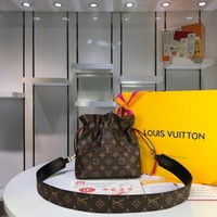 LV Louis Vuitton WOMEN'S MONOGRAM CANVAS POCHE Noah SHOULDER BAG