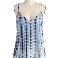 ModCloth Boho Mid-length Spaghetti Straps Waterfalling for You Top
