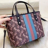 COACH Fashion New horse car print leather handbag shoulder bag crossbody bag