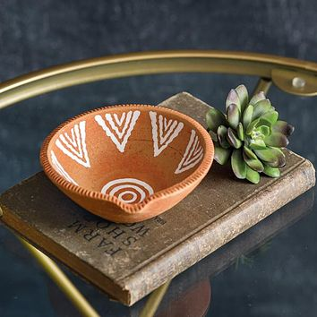 Hand-painted Terra Cotta Trinket Dish - Box of 2