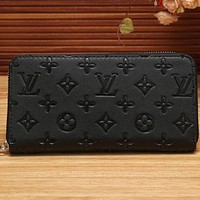Perfect LV Women Shopping Fashion Leather Zipper Wallet Purse