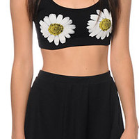 See You Monday Double Daisy Crop Tank Top