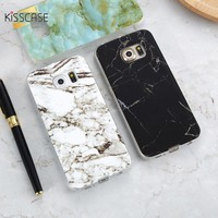 KISSCASE Marble Skin Case For Samsung Galaxy S8 Plus S7 S6 Edge S4 Soft Silicon Phone Cases For Samsung S8 Galaxy S7 S6 Cover S4