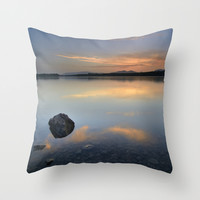 """""""Calm at the lake"""" Summer days. Throw Pillow by Guido Montañés"""