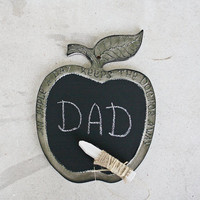APPLE CHALKBOARD  Sign Shabby Chic Rustic Design Wall Decor Kitchen Decor An Apple a Day