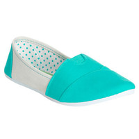 Zoey Canvas Colorblock Slip On | Shop Shoes at Wet Seal