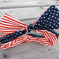 Red, White, and Blue Twisted Headband