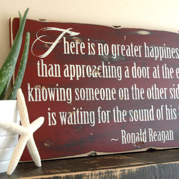 """Rustic Distressed Wood Sign with Your Own Quote Saying, 11"""" Inch Plank, Up to 24"""" Long"""