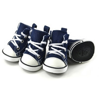 New 4PCS Puppy Dog Denim Shoes Sport Sneaker Pet Casual Anti-slip Boots Hot = 1930134724