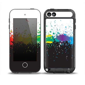 The Rainbow Paint Spatter Skin for the iPod Touch 5th Generation frē LifeProof Case