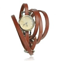 Vintage Style Multi-wraps Thin Belt Watch by Hallomall