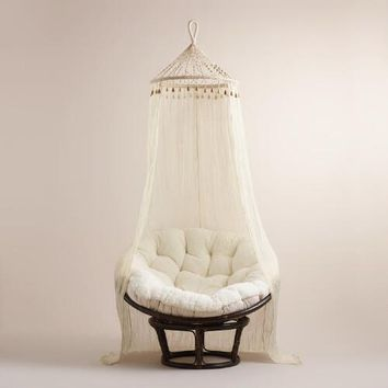 Boho Sheer Cotton Macrame Canopy