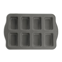 Evelots 8 Cup Non-Stick Mini Loaf & Brownie Baking Pan, Kitchenware