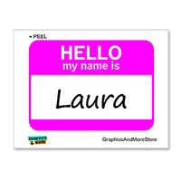 Laura Hello My Name Is Sticker