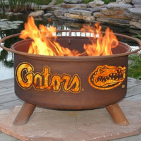 UF University Of Florida Gators NCAA Portable Outdoor Grilling Fire Pit