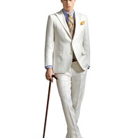 The Great Gatsby Collection Ivory Linen Pants - Brooks Brothers