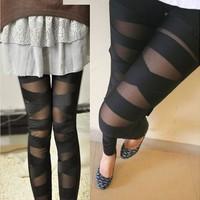 Leggings Mesh Womens Leggings  Halloween Gothic Legging